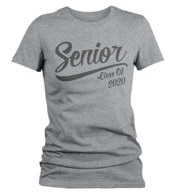 Women's Senior Class 2020 T-Shirt Graduation Retro Vintage Tee TShirt Graduation Gift Idea Shirts-Shirts By Sarah