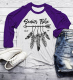 Men's 2019 Senior Raglan Senior Tribe Shirt Class 2019 Graphic Boho Arrow Feathers 3/4 Sleeve-Shirts By Sarah