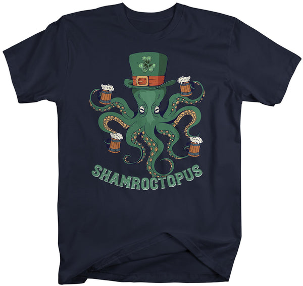 Men's Funny St. Patrick's Day T Shirt Octopus Shirt Funny St. Patrick's Day Shirt Drinking Shirt Shamroctopus-Shirts By Sarah
