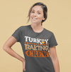 Women's Funny Thanksgiving T Shirt Turkey Baking Crew Shirt Turkey Shirts Thanksgiving Shirts Matching Tees