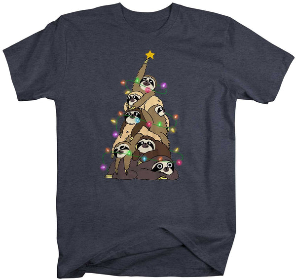 Men's Funny Christmas Tree T Shirt Sloth Christmas Shirts Sloth Christmas Tree Shirt Tree Shirt Sloth Shirt-Shirts By Sarah