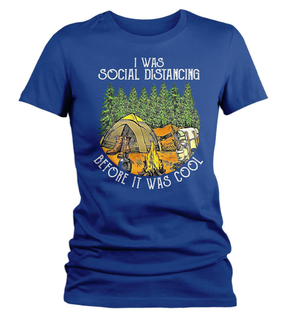 Women's Social Distancing T Shirt Before It Was Cool Shirt Camping Shirt Hipster Shirt Camper Social Distance Introvert Shirt-Shirts By Sarah