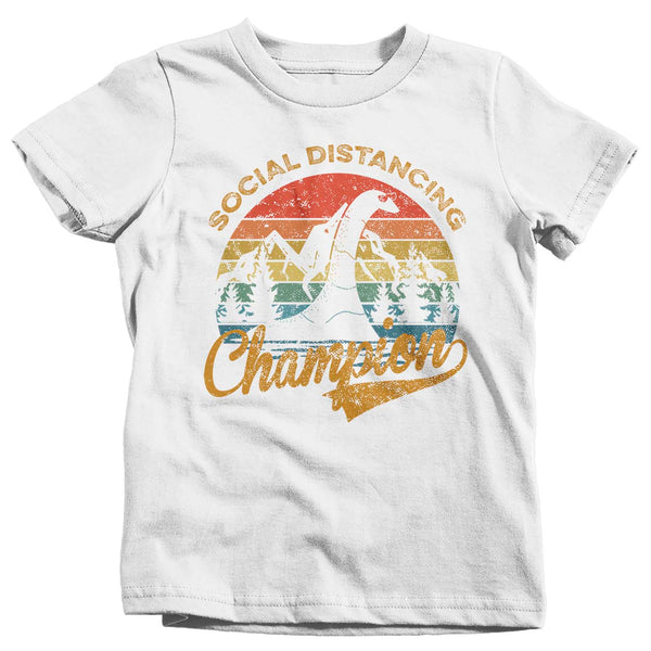 Kid's Social Distancing T Shirt Loch Ness Shirt Social Distancing Champion Shirt Hipster Shirt Funny Nessie Shirt-Shirts By Sarah
