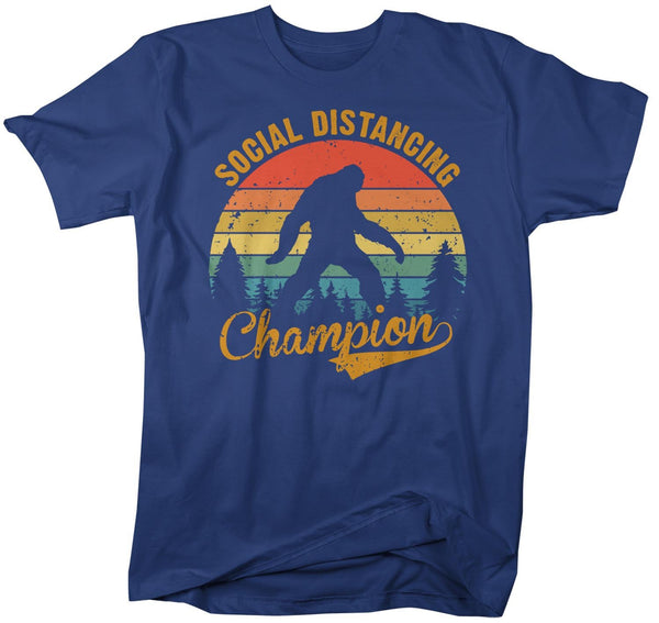Men's Social Distancing T Shirt Bigfoot Shirt Social Distancing Champion Shirt Hipster Shirt Funny Bigfoot Shirt-Shirts By Sarah