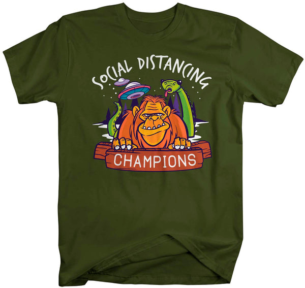 Men's Social Distancing T Shirt Alien Loch Ness Shirt Social Distancing Bigfoot Shirt Hipster Shirt Funny Nessie Shirt-Shirts By Sarah