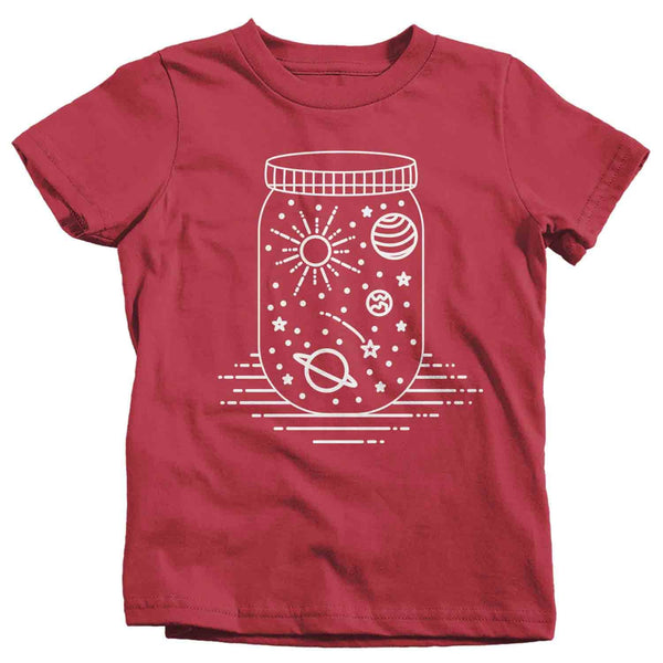 Kids Space T Shirt Planets Shirt Space In Jar Shirt Celestial T Shirt Hipster Shirts Hipster Space Shirt Mason Jar Space Shirt-Shirts By Sarah