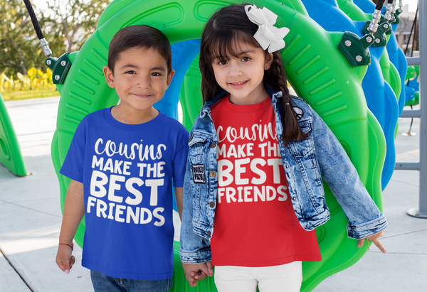 Kid's Cousin T Shirt Shirts For Cousins Matching Cousin Shirt Best Friends TShirt Toddler Infant Tee Make Best Friends-Shirts By Sarah