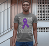 Men's Purple Awareness T Shirt Fighter Shirts Purple Ribbon Awareness TShirt Typography Shirt
