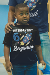 Boy's Personalized Birthday Shirt Birthday Rocket Space Shirts Boy's Name Number T Shirt Custom Shirts