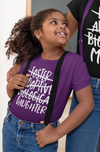 Girl's Foster Daughter T Shirt Adoptive Daughter Shirts Biological Daughter Tee Adoption Tshirt