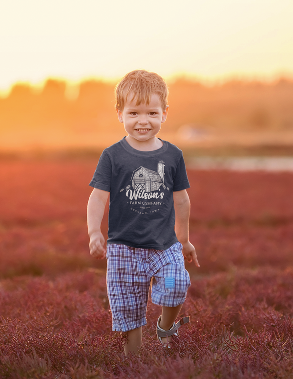 Kids Personalized Farm T Shirt Barn Farming Shirt Personalized Farmer Gifts Silo Shirts Custom Farm T Shirt Boy's Girls-Shirts By Sarah