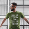 Men's Photographer T Shirt Photography Shirts Look At Bright Side Camera TShirt Inspirational Photography Shirts