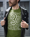 Men's Third Grade Teacher T Shirt 3rd Grade Typography T Shirt Cute Back To School Shirt 3rd Teacher Gift Shirts