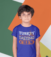 Kids Funny Thanksgiving T Shirt Turkey Tasting Crew Shirt Turkey Shirts Thanksgiving Shirts Matching Tees