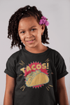 Kids Funny Tacos T Shirt Foodie Graphic Tee Taco Shell Comic Shirts Taco Night Tshirt