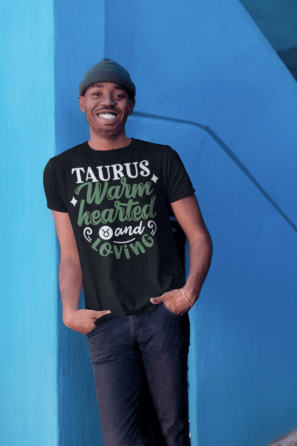 Men's Taurus T-Shirt Warm Hearted Loving Shirt Horoscope Shirt Astrology Shirts Taurus TShirt Astrological-Shirts By Sarah