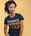 Women's Funny Thanksgiving T Shirt Turkey Tasting Crew Shirt Turkey Shirts Thanksgiving Shirts Matching Tees