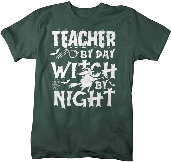 Men's Funny Teacher Halloween T Shirt Teacher Halloween Shirts Teacher Day Witch Night Shirts Witches Shirt-Shirts By Sarah