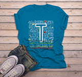 Men's Teacher T Shirt Typography Tee Cute Shirts For Teachers Gift Idea Cute TShirt-Shirts By Sarah