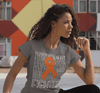 Women's Orange Awareness T Shirt Fighter Shirts Orange Ribbon Awareness TShirt Typography Shirt