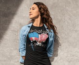 Women's American Flag T-Shirt United States Remembers 4th July Shirt America Shirts Memorial Day Shirt-Shirts By Sarah