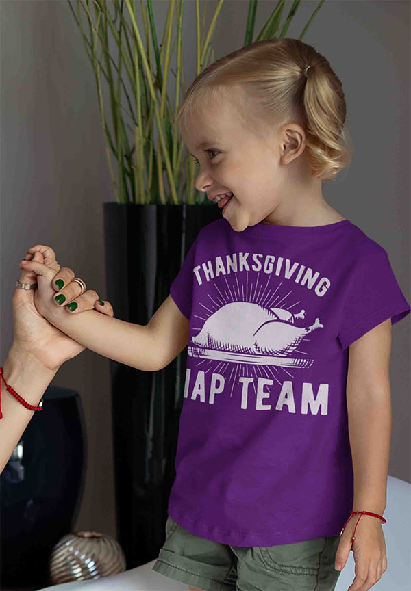 Kids Funny Thanksgiving T Shirt Nap Team Shirt Turkey T Shirt Thanksgiving Shirts Naps Shirt-Shirts By Sarah