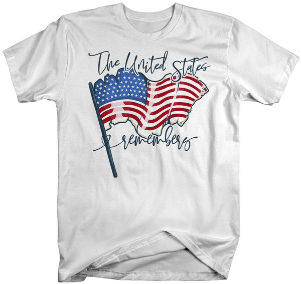 Men's American Flag T-Shirt United States Remembers 4th July Shirt America Shirts Memorial Day Shirt-Shirts By Sarah