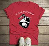 Men's Funny Coffee T Shirt Total Pot Head Shirts Hilarious Coffee Lover Gift Idea Hipster Shirts-Shirts By Sarah