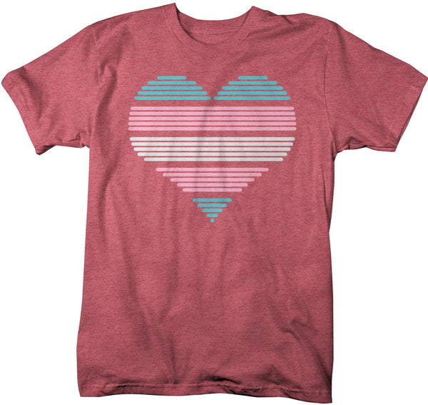 Men's LGBT T Shirt Transgender Pride Shirts Heart Trans Gender T Shirt Heart Shirts Transgender Pride T Shirts-Shirts By Sarah