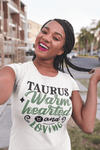 Women's Taurus T-Shirt Warm Hearted Loving Shirt Horoscope Shirt Astrology Shirts Taurus TShirt Astrological