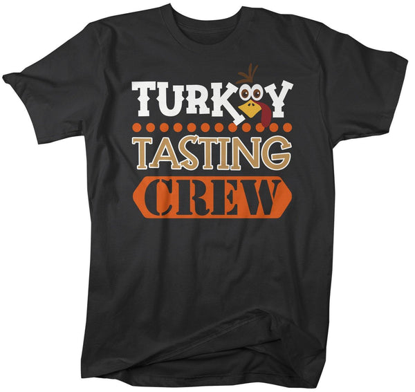 Men's Funny Thanksgiving T Shirt Turkey Tasting Crew Shirt Turkey Shirts Thanksgiving Shirts Matching Tees-Shirts By Sarah