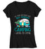 Women's V-Neck Funny Camping T Shirt 2 Seasons Camping Waiting For Camping Shirt Camper Shirt Camp Shirt RV Pull Behind Camper-Shirts By Sarah