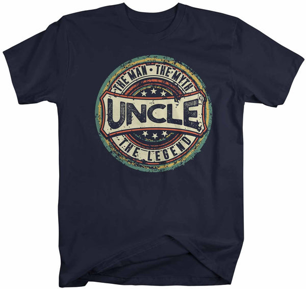 Men's Funny Uncle T Shirt Father's Day Gift Man Myth Legend Shirt Vintage Shirt Retro Gift Vintage Uncle Shirt-Shirts By Sarah