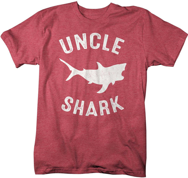 Men's Uncle Shark T Shirt Shark Shirts Matching Uncle TShirt Father's Day Gift Idea Tee Family Shirts-Shirts By Sarah