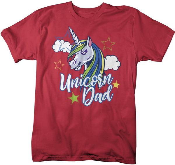 Men's Unicorn Dad T-Shirt Unicorn Dad Shirts Graphic Cute Daddy Me Tee Unicorns Tshirt-Shirts By Sarah