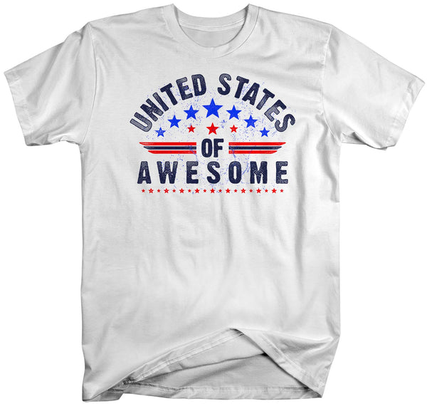 Men's Patriotic T Shirt United States Of Awesome Shirt 4th July Shirt Independence Day T Shirt Awesome USA-Shirts By Sarah