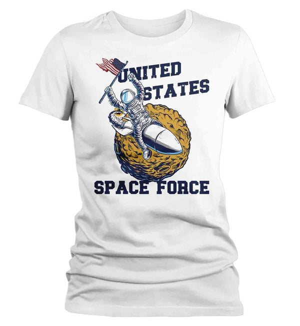 Women's Funny Space Force T Shirt United States Space Force Shirt Astronaut Shirts Funny Shirts U.S. Space Force-Shirts By Sarah