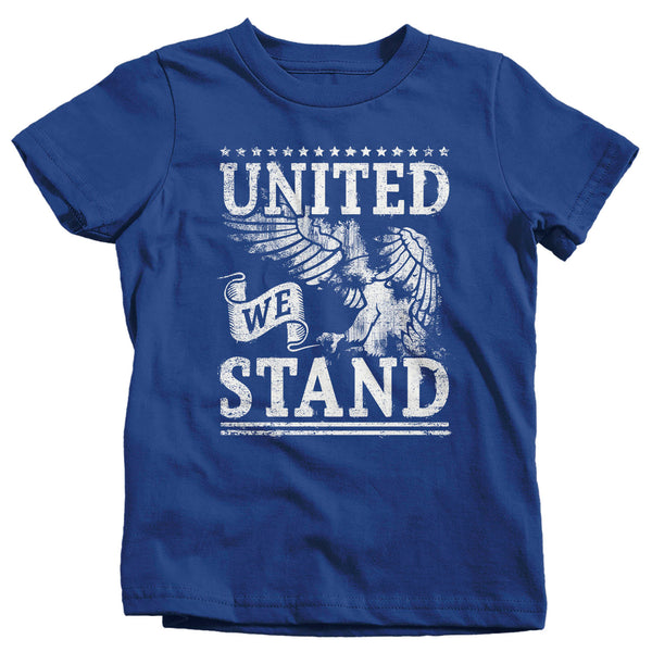 Kids United We Stand T Shirt Eagle Shirt USA Patriotic TShirt 4th July Tee Boys Girls 4th July Gift Idea-Shirts By Sarah