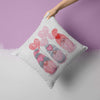 Valentine's Day Gnomes Pillow Cover Cute Heart Gnome Valentine Throw Pillow Boho Cute Season Gnome Square Pillow