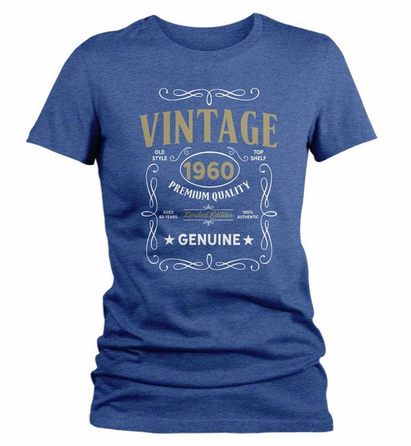 Women's Vintage 1960 60th Birthday T-Shirt Classic Sixty Shirt Gift Idea 60th Birthday Shirts Vintage Tee Vintage Shirt-Shirts By Sarah