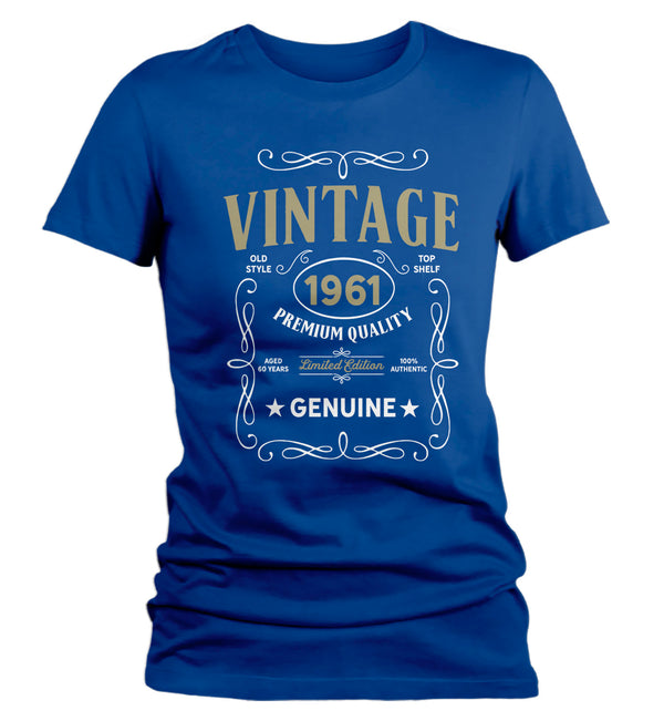 Women's Vintage 1961 60th Birthday T-Shirt Classic Sixty Shirt Gift Idea 60th Birthday Shirts Vintage Tee Vintage Shirt Ladies-Shirts By Sarah
