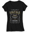 Women's V-Neck Vintage 1961 60th Birthday T-Shirt Classic Sixty Shirt Gift Idea 60th Birthday Shirts Vintage Tee Vintage Shirt Ladies