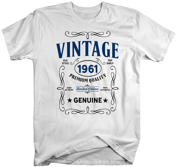Men's Vintage 1961 60th Birthday T-Shirt Classic Sixty Shirt Gift Idea 60th Birthday Shirts Vintage Tee Vintage Shirt Man Unisex-Shirts By Sarah