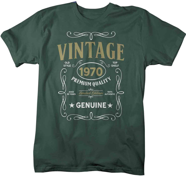 Men's Vintage 1970 50th Birthday T-Shirt Classic Fifty Shirt Gift Idea 50th Birthday Shirts Vintage Tee Vintage Shirt-Shirts By Sarah