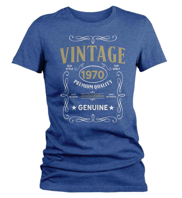 Women's Vintage 1970 50th Birthday T-Shirt Classic Fifty Shirt Gift Idea 50th Birthday Shirts Vintage Tee Vintage Shirt-Shirts By Sarah
