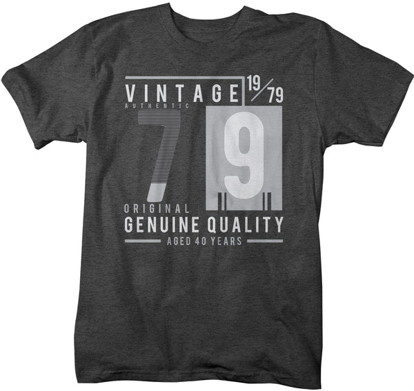 Men's Vintage 1979 T Shirt 1979 Birthday Shirt 40th Birthday Tee Aged 40 Years Genuine Authentic Retro Gift Idea Vintage Tee-Shirts By Sarah