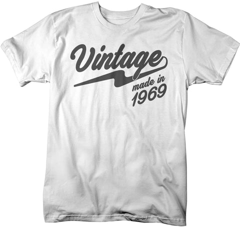 Mens Vintage T Shirt 1969 Birthday Made In 50th Tee Retro Gift Idea