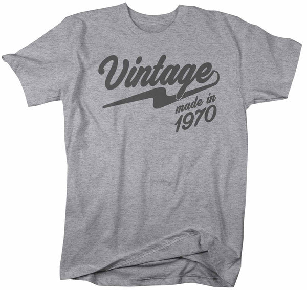 Men's Vintage T Shirt 1970 Birthday Made In Shirt 50th Birthday Tee Retro Gift Idea Vintage Tee-Shirts By Sarah