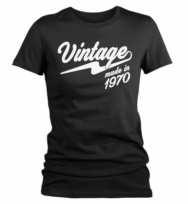 Women's Vintage T Shirt 1970 Birthday Made In Shirt 50th Birthday Tee Retro Gift Idea Vintage Tee-Shirts By Sarah