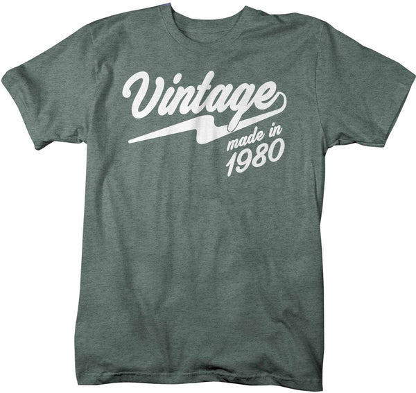 Men's Vintage T Shirt 1980 Birthday Made In Shirt 40th Birthday Tee Retro Gift Idea Vintage Tee-Shirts By Sarah